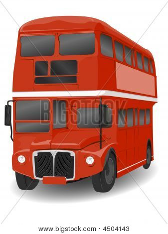 Red London Routemaster Bus