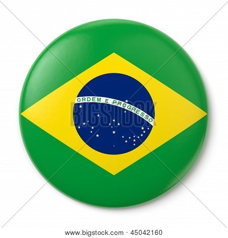 Brazil Pin-back