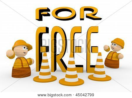 free symbol  with two cute 3d characters