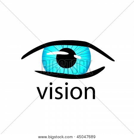 Graphic Vector creative design Eye Close Up