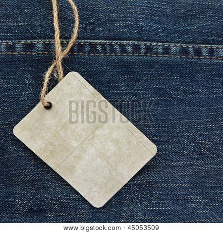 Price Tag Over Jeans