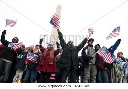 Inaugural Celebration At Washington Monument