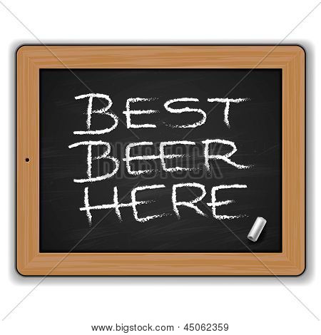 Menu - Beers on the blackboard