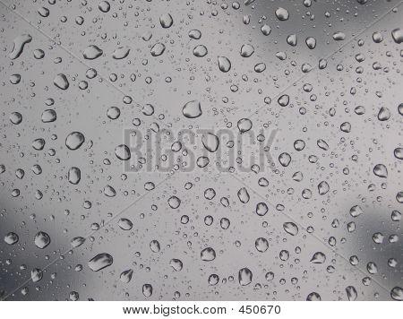 rain drops on plastic film poster
