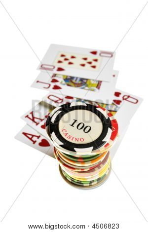 Casino Chips And Playing Card