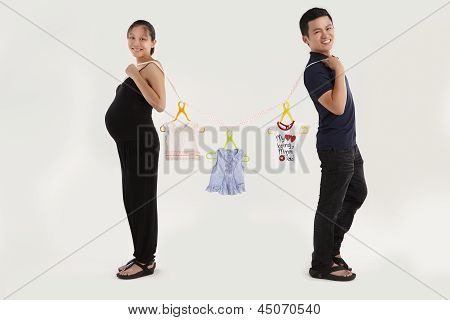 Cheerful parent
