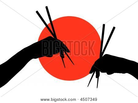 Hands With Chopstick
