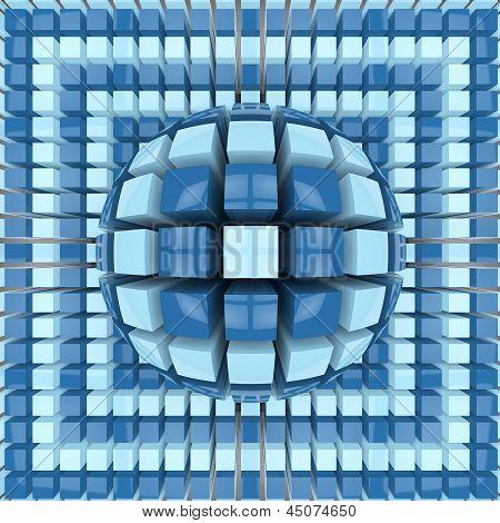 Op Art Two Colors Sphere Pattern