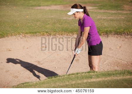 Trying to get out of a sand trap