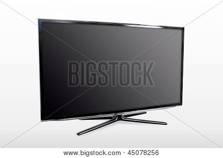 Blank Modern Widescreen Tv Led/lcd Monitor