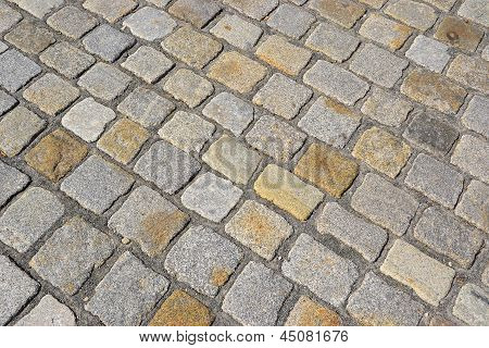 Cobblestones on an old street in Dessau