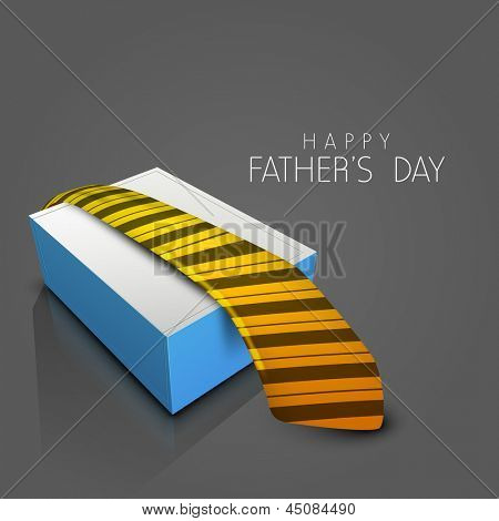 Happy Fathers Day background with necktie. poster