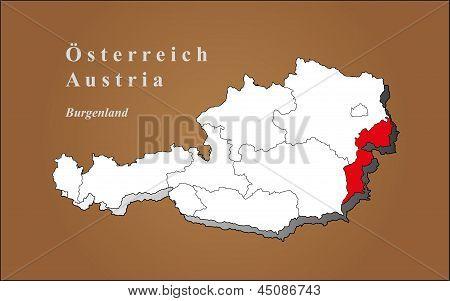 Austria Burgenland highlighted