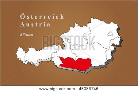 Austria Tyrol Highlighted
