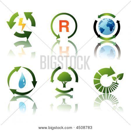Vector Set Of Environmental Recycling Icons