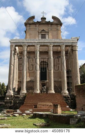 The Temple Of Antoninus And Faustina