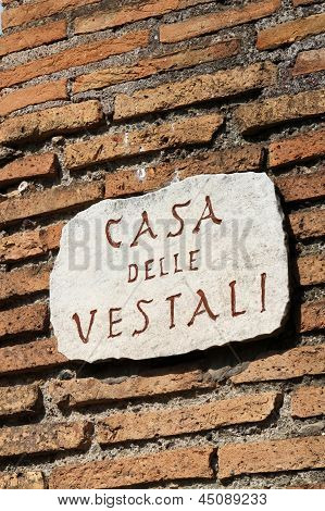 The House Of The Vestal Virgins