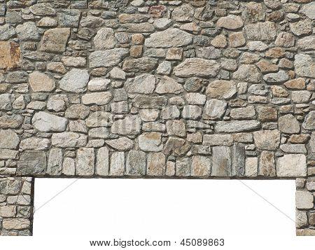 Door lintel with natural stone