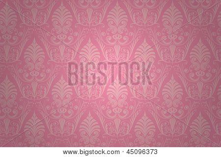 Damask seamless pattern. Vector wallpaper background.
