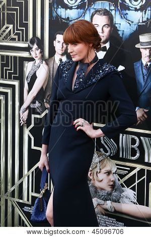 NEW YORK-NOV 18: Singer Florence Welch attends the premiere of