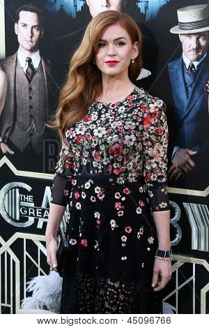 NEW YORK-NOV 18: Actress Isla Fisher attends the premiere of