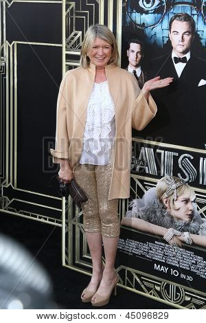 NEW YORK-NOV 18: TV personality Martha Stewart attends the premiere of