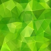 Abstract triangles geometry vector green background. This is file of EPS10 format. poster