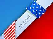 Creative Independence Day background with text Fourth Of July. poster