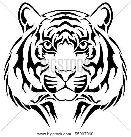 Tiger, Tribal Tattoo
