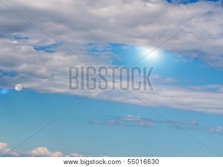 Stratus Clouds With Sun