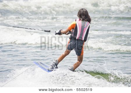 Young Girl Wakeboard Competitor