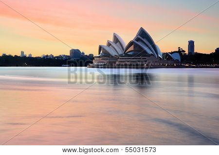 Majestic Sydney Opera House On A Spectacular Sunrise Morning