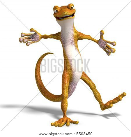 Funny Toon Gecko