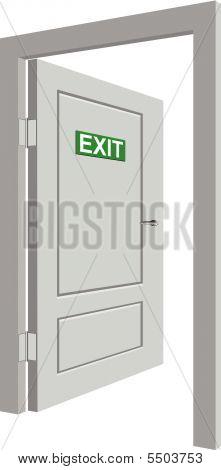 Grey Open Door