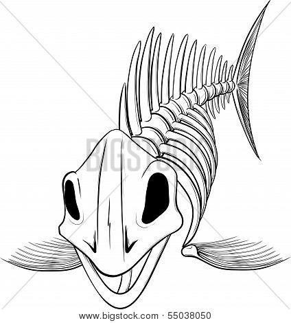 silhouette skeleton fish