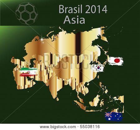 Brazil 2014  Team asia