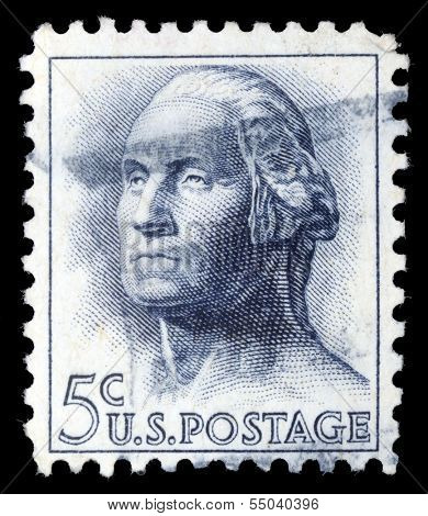 USA-CIRCA 1966: A stamp printed in USA shows image of the George Washington, circa 1966.