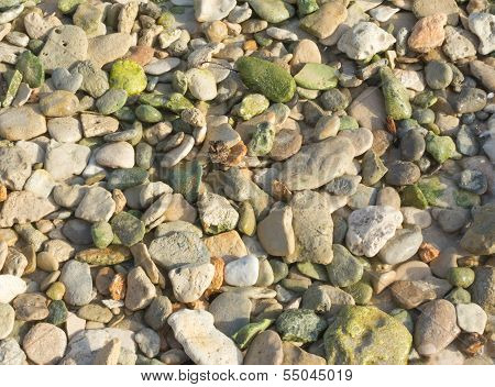 Green Pebble Rocks