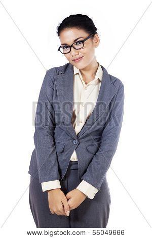 Shy Businesswoman