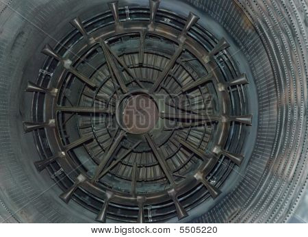 Closeup Jet Engine