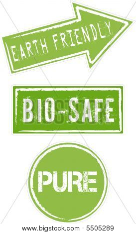 Environment Safe Green Signs