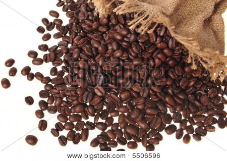 Coffee Grains In A Bag