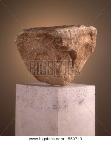 Rock On Pedestal