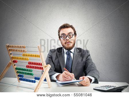 Nerd Financial Businessman