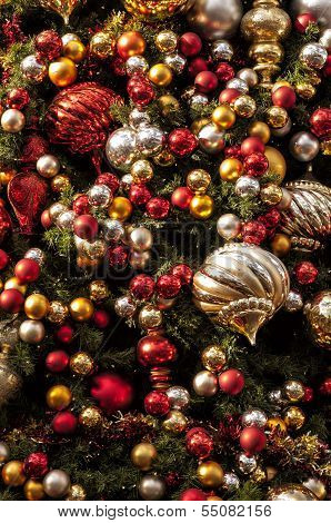Christmas Ornaments And Christmas Tree