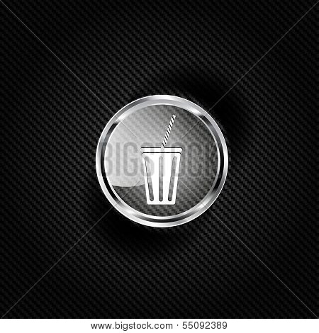 Cold drink web icon
