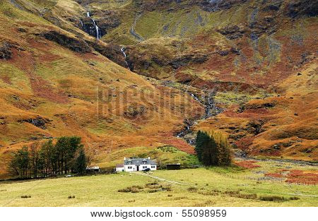 Traditional house in Scotland, Great Britain, Europe
