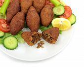 Turkish dish, stuffed meatballs with bulgur - ( icli kofte ). poster