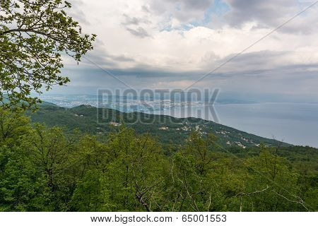 View Of A Coastal Areawith Overcast