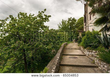 Ascending Concrete Path